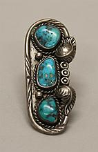 Silver, Turquoise Ring