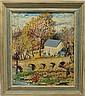 Ginther, Mary Pemberton, 1869-1959, Pennsylvania, Bridge/Winter Landscape. Oil on Board.
