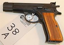 Solothurn ITM Model AT84S semi-automatic pistol. Cal. 9 mm. 4-1/2