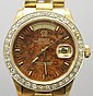 18K Yellow Gold Diamond Gents Rolex Wrist Watch with Boxes