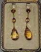 14K Yellow Gold Citrine Earrings