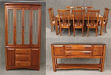 11 Piece Dining Suite from Thomasville Furniture, Cherry, (1) Table 30