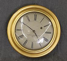 Brewster and Ingraham, Wall Clock, Brass Case, Thirty Hour Works, 13
