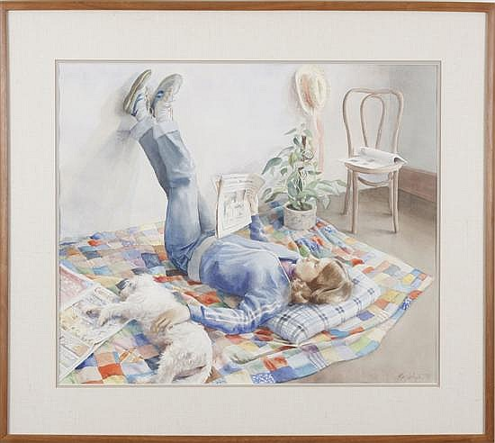 Mary Whyte. Figural watercolor, 21