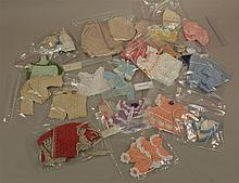 LOT OF NEW CROCHETED CLOTHING FOR SMALL DOLLS: 6