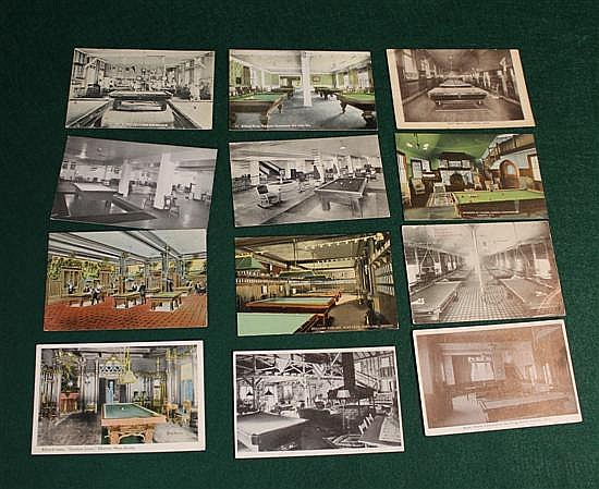 Lot of 12 pc. U.S. Billiard / Pool Rooms (1 YMCA)