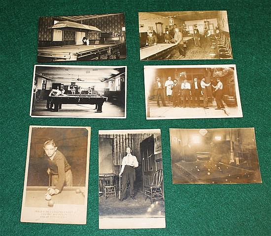 Lot of 7 pc Real Photo Postcards.