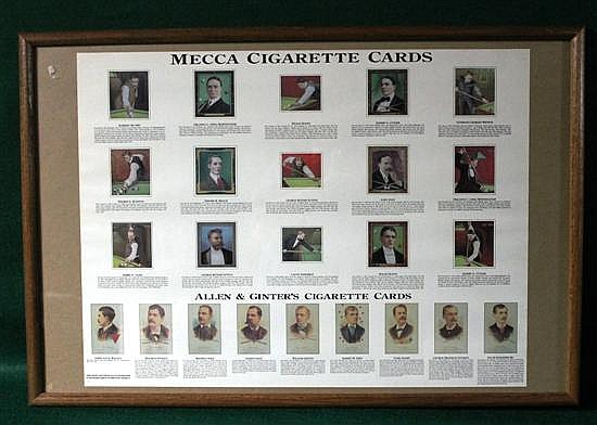 Modern framed poster of Mecca and Allen Ginter cards