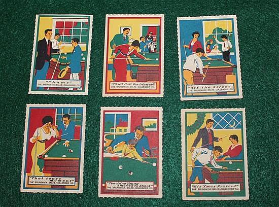 Set of 6 Brunswick Balke and Collender stamps
