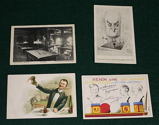 Lot of 4 pc. European (Germany) postcards, 1 of Chalk Ad