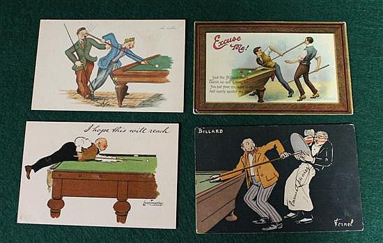 4 pc. Lot of humorous postcards