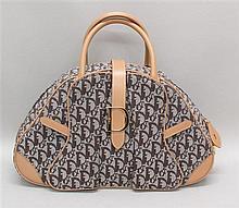 Christian Dior Canvas Bowler Handbag
