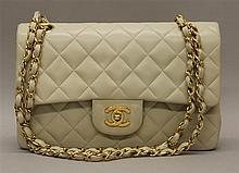 Chanel Vanilla Quilted Leather Double-Flap Handbag