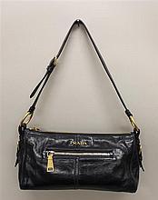 Prada Navy Leather Handbag