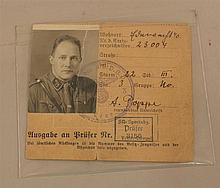 German award document for the SA Sports badge. Small size document 3 1/2