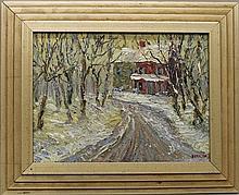 Kaiser, Don, b. 1958, Pennsylvania, Winter Landscape. Oil on Canvas.