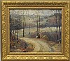 Mattern, Walter, 1892-1946, Pennsylvania, Country Road Landscape, Oil on Board., Walter  Mattern, Click for value