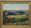 Mattern, Walter, 1892-1946, Pennsylvania, Panoramic Landscape. Oil on Board., Walter  Mattern, Click for value