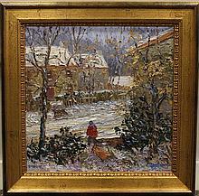 """Kaiser, Donald b.1958, Pennsylvania """"The Short Cut"""" Oil on Canvas"""