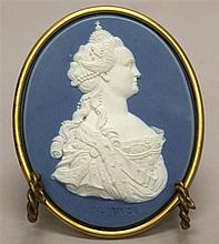 Wedgwood & Bentley Portrait Medallion of Empress Catherine II of Russia, Circa 1775