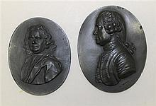 Pair of Wedgwood Basalt Portrait Medallions, Circa Late 18th Century