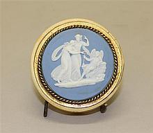 Wedgwood Circular Bone Trinket Box with Jasperware Cameo Insert