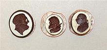 Three Wedgwood & Bentley Crimson Intaglios, Circa 18th Century