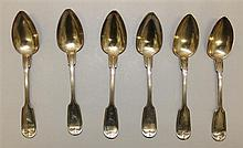 Six Coin Silver Spoons
