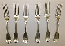 Six Coin Silver Dinner Forks