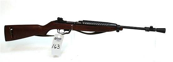"Plainfield Machine Company M1 Carbine semi-automatic rifle. Cal. 30 Carbine. 18"" bbl. SN 23179. Blued finish on metal, after market ..."