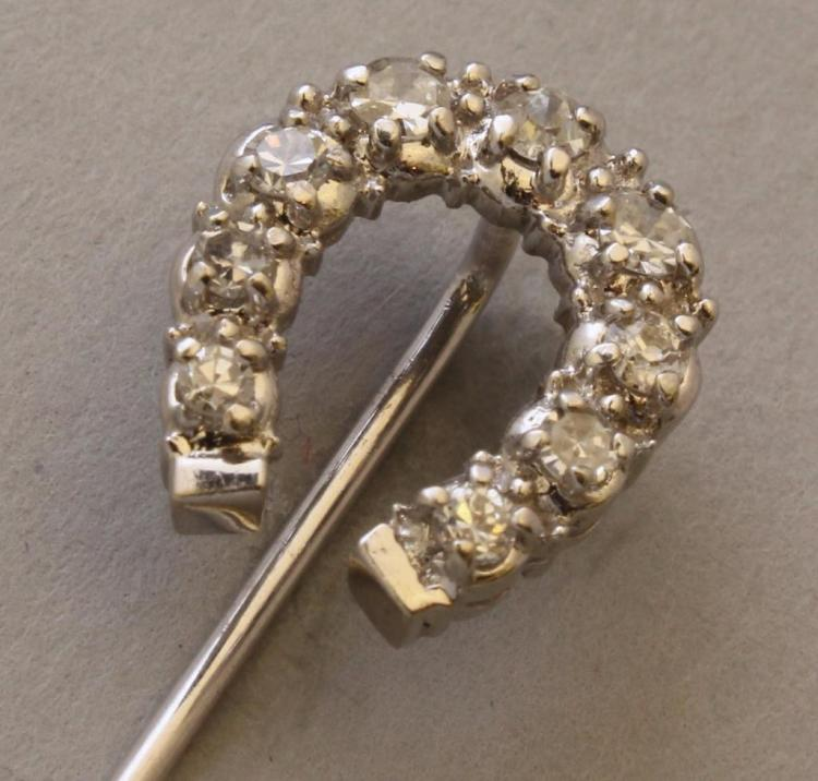 Gold Stickpin with Diamond
