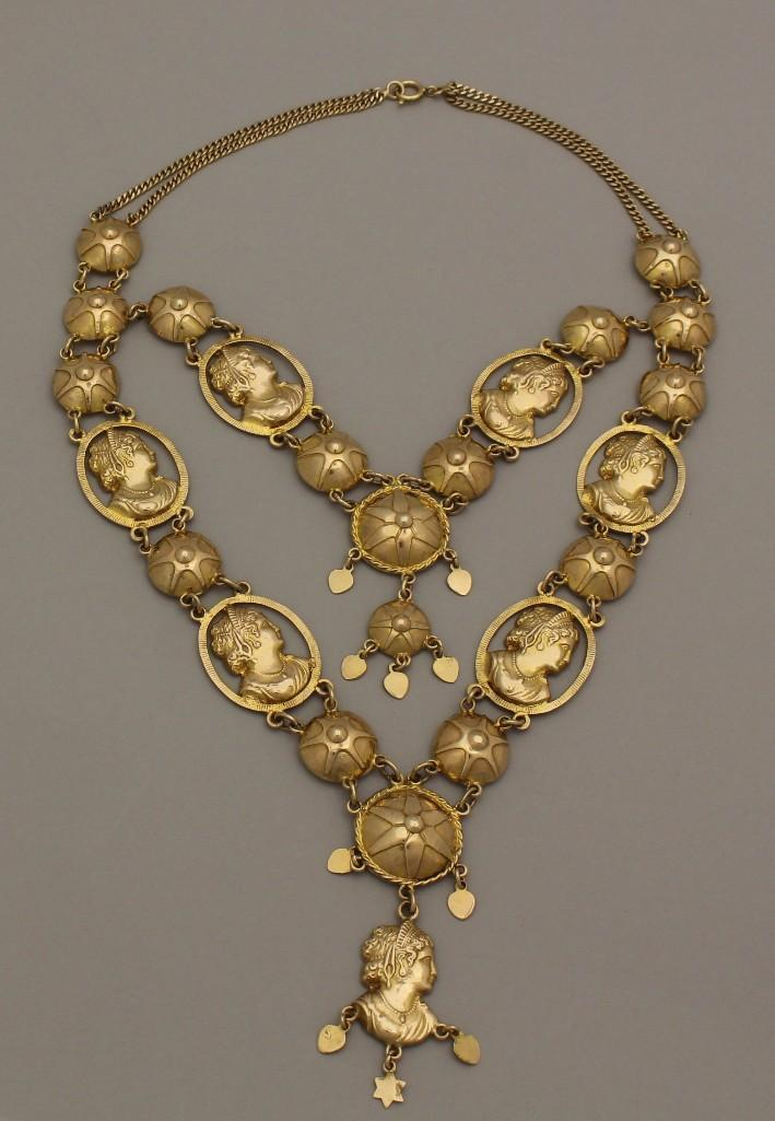 Gold Necklace with Medallions