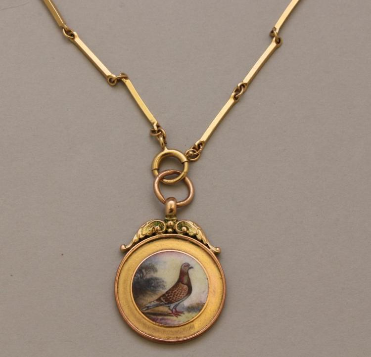 Gold Pendant with Chain