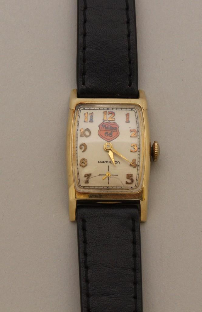 Hamilton Phillips 66 Gold Wristwatch