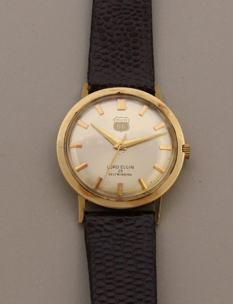 Lord Elgin Gold Phillips 66 Wristwatch