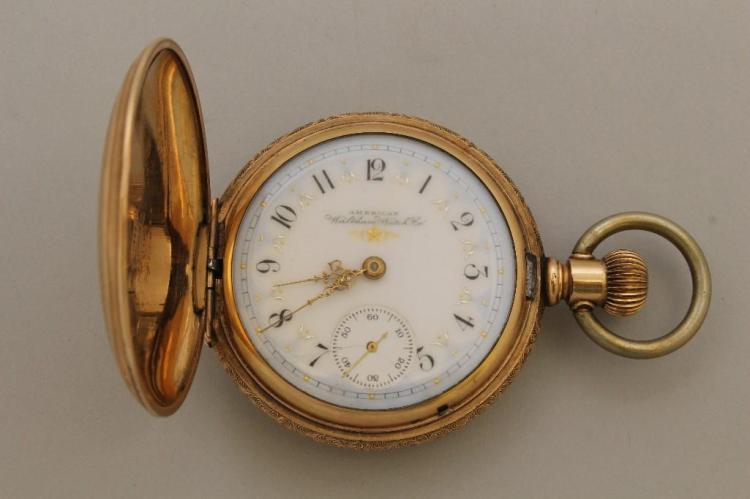 American Waltham Gold Pocket Watch