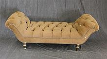 Louis XV Style Bench, Tan with Nail Heads, 24