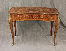 Louis XV Style Ormolu, Mounted Desk with Floral Inlay, 32