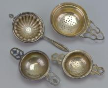 Sterling Silver Tea Strainer Grouping