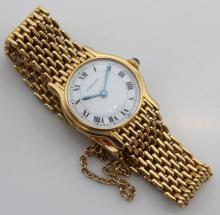 Cartier Wrist Watch. 18K Yellow Gold. Small Wrist