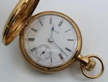 Pocket Watch. A.W. Co. Waltham. 18K Yellow Gold