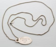 Tiffany & Co. Necklace. Sterling Silver. Beaded Chain with