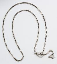 David Yurman Sterling Silver Box Chain