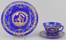 Cobalt Blue Tea Setting