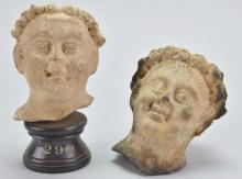 Greek Terracotta Head Grouping
