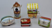 French Limoges Trinket Box Grouping