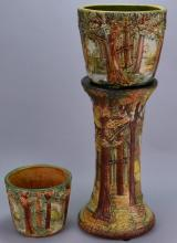 Weller Jardiniere and Pedestal Grouping