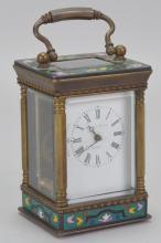 Elliot & Sons Enameled Carriage Clock