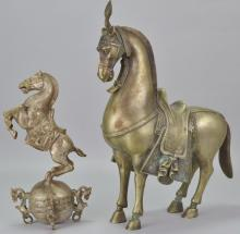 Tibetan Style Horse Statue Grouping