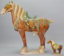 Tang-style Pottery Horse Grouping